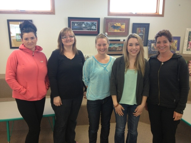 Pictured L-R Juanita McArthur-Big Eagle, Laurie Bouchard, Laura Lees, Anna Wagner and Katherine Leier