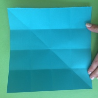 6. Now reopen the paper again to find 16 small squares present